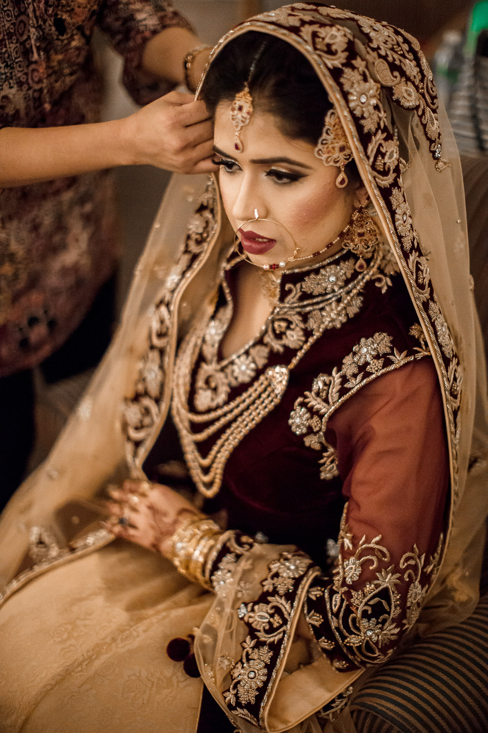 pakistan bride getting ready