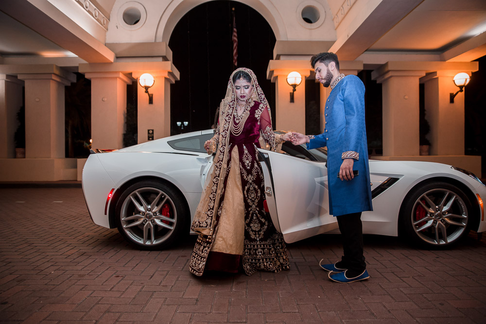 pakistani bride luxury car orlando florida hotel