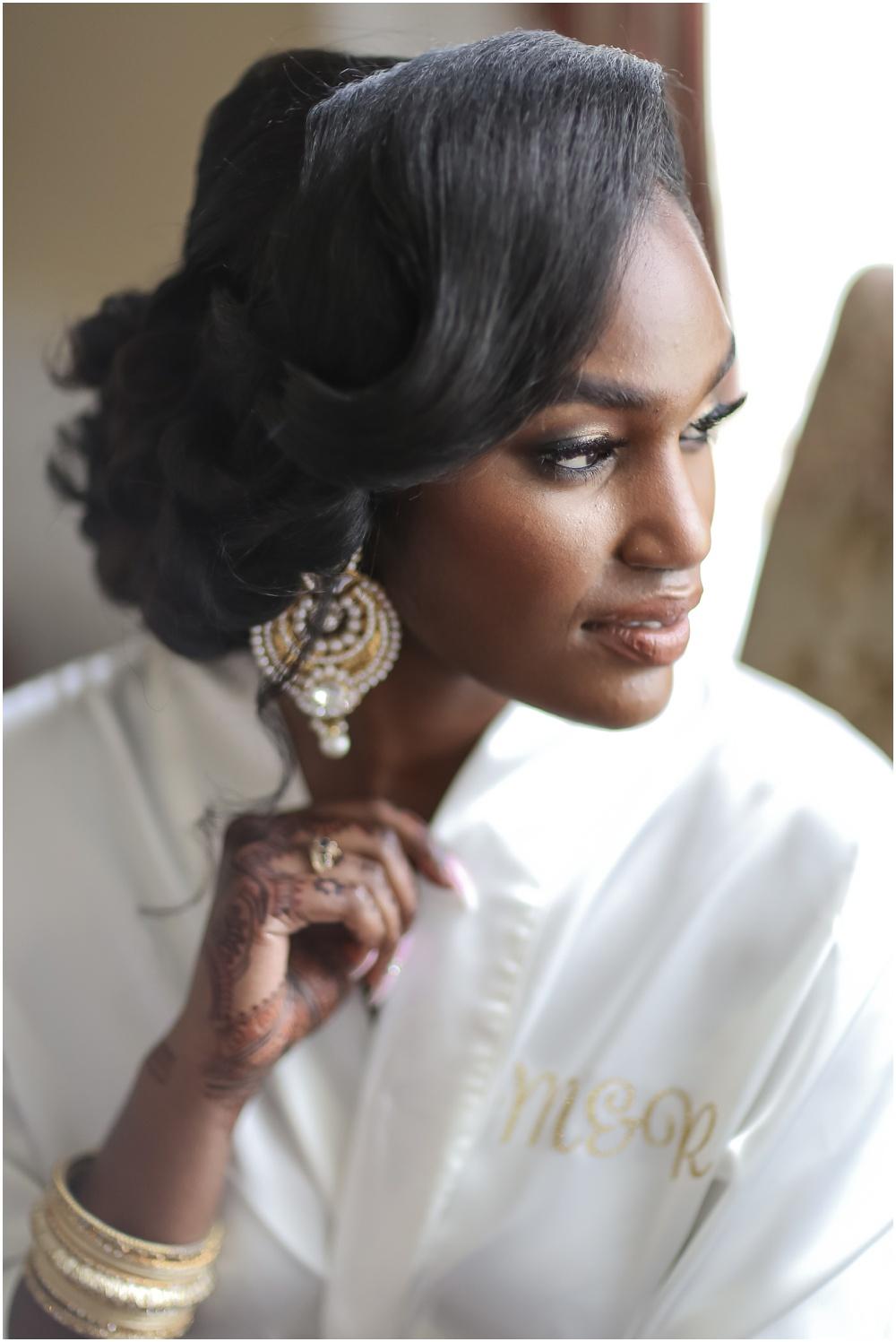 trinidad wedding bride getting ready