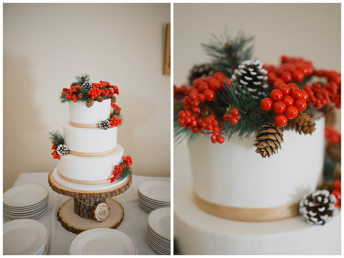 winter wedding cake design