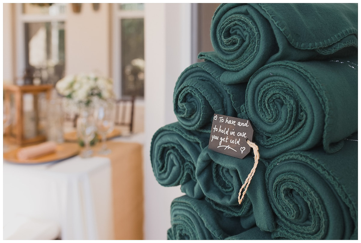 wedding blankets as favors