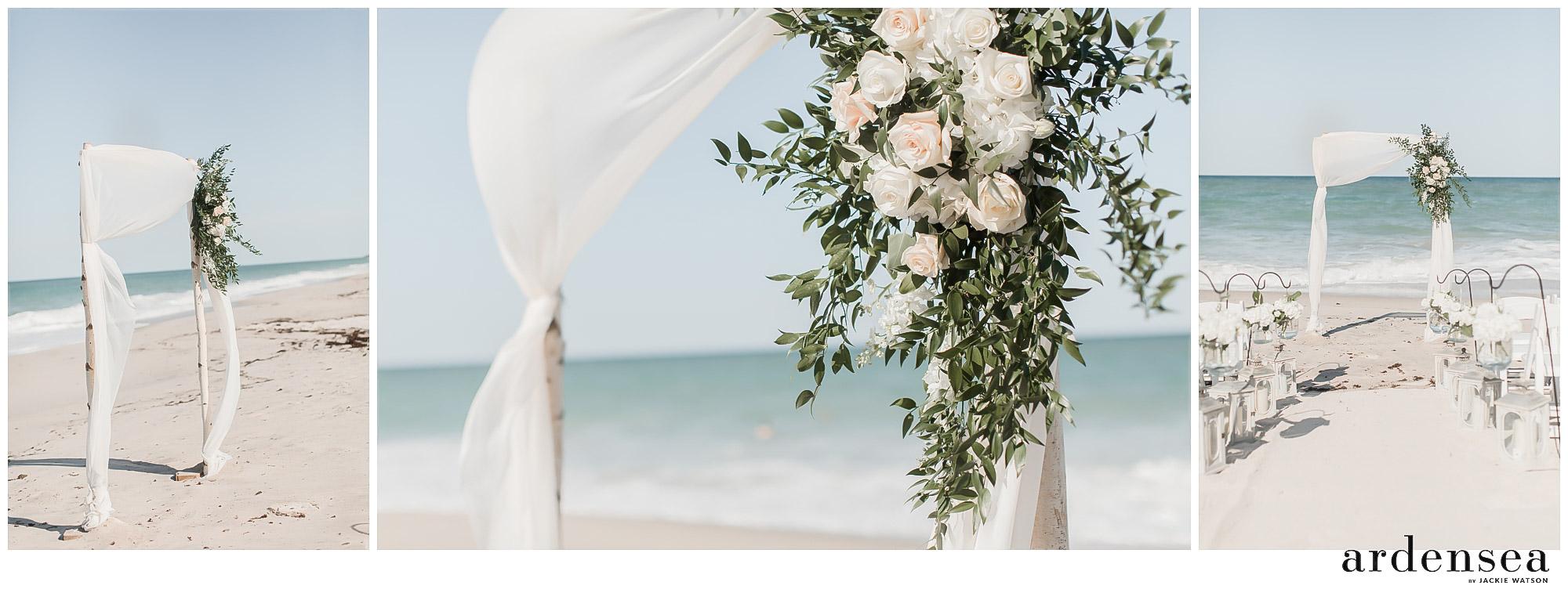 beach wedding venue alter