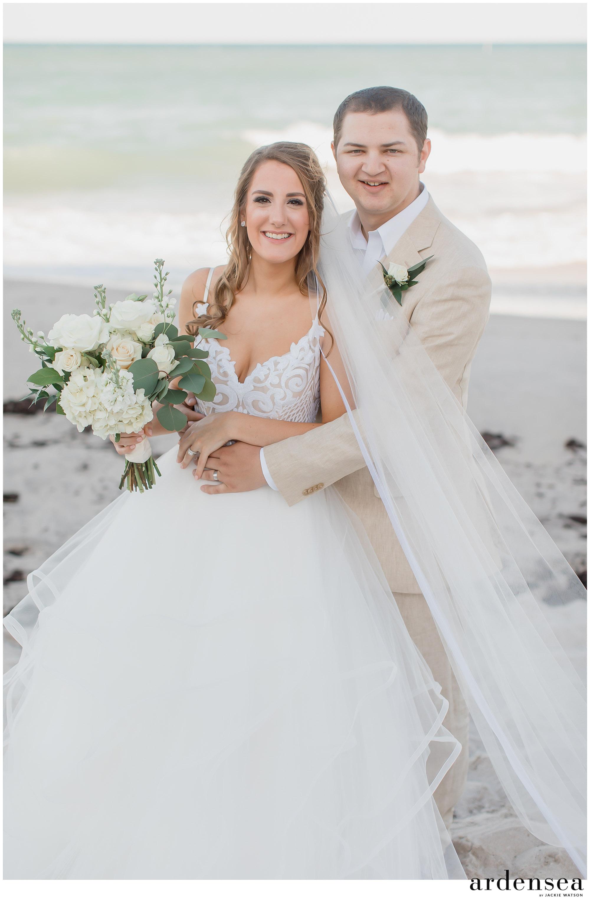 wedding photos on the beach florida