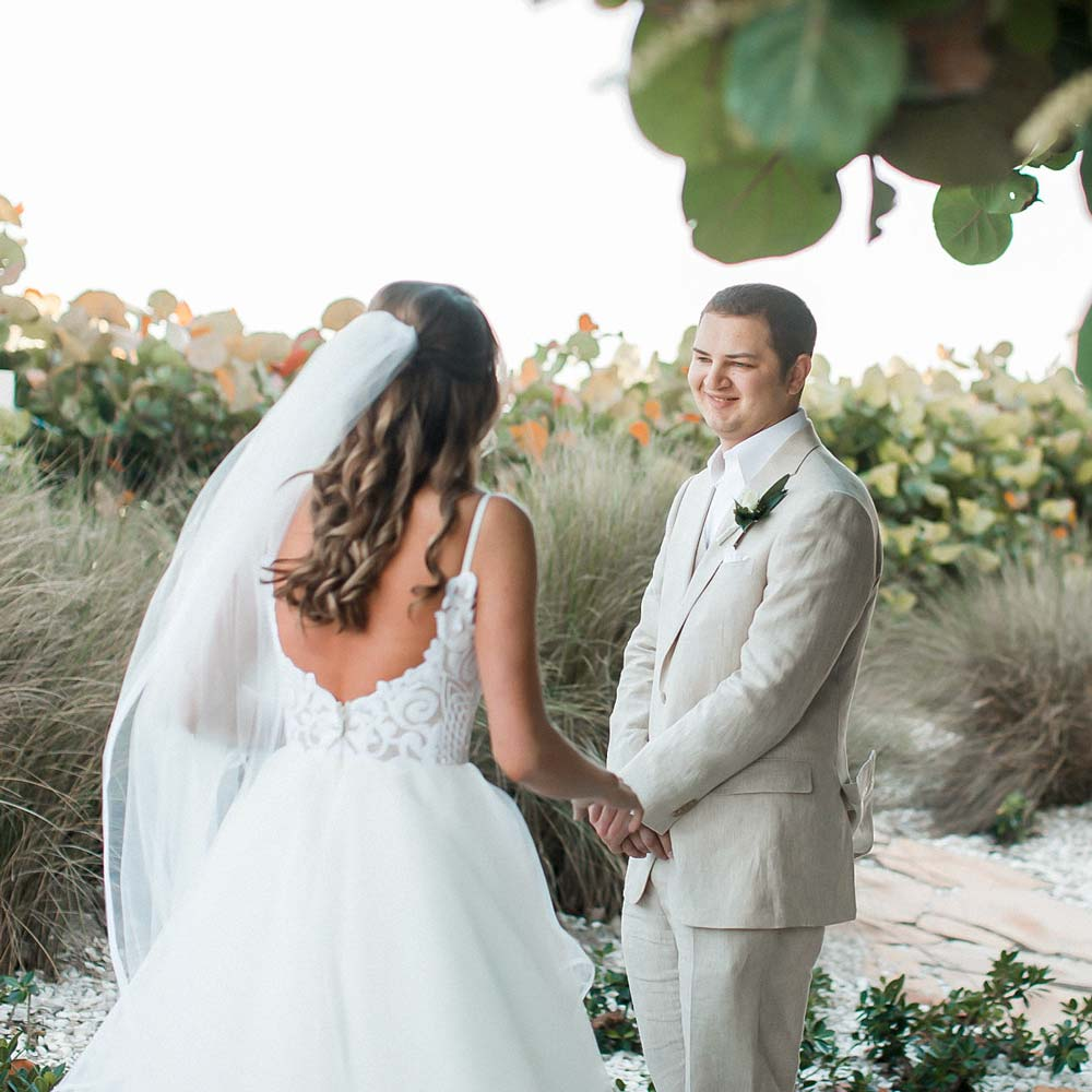 first look wedding photography