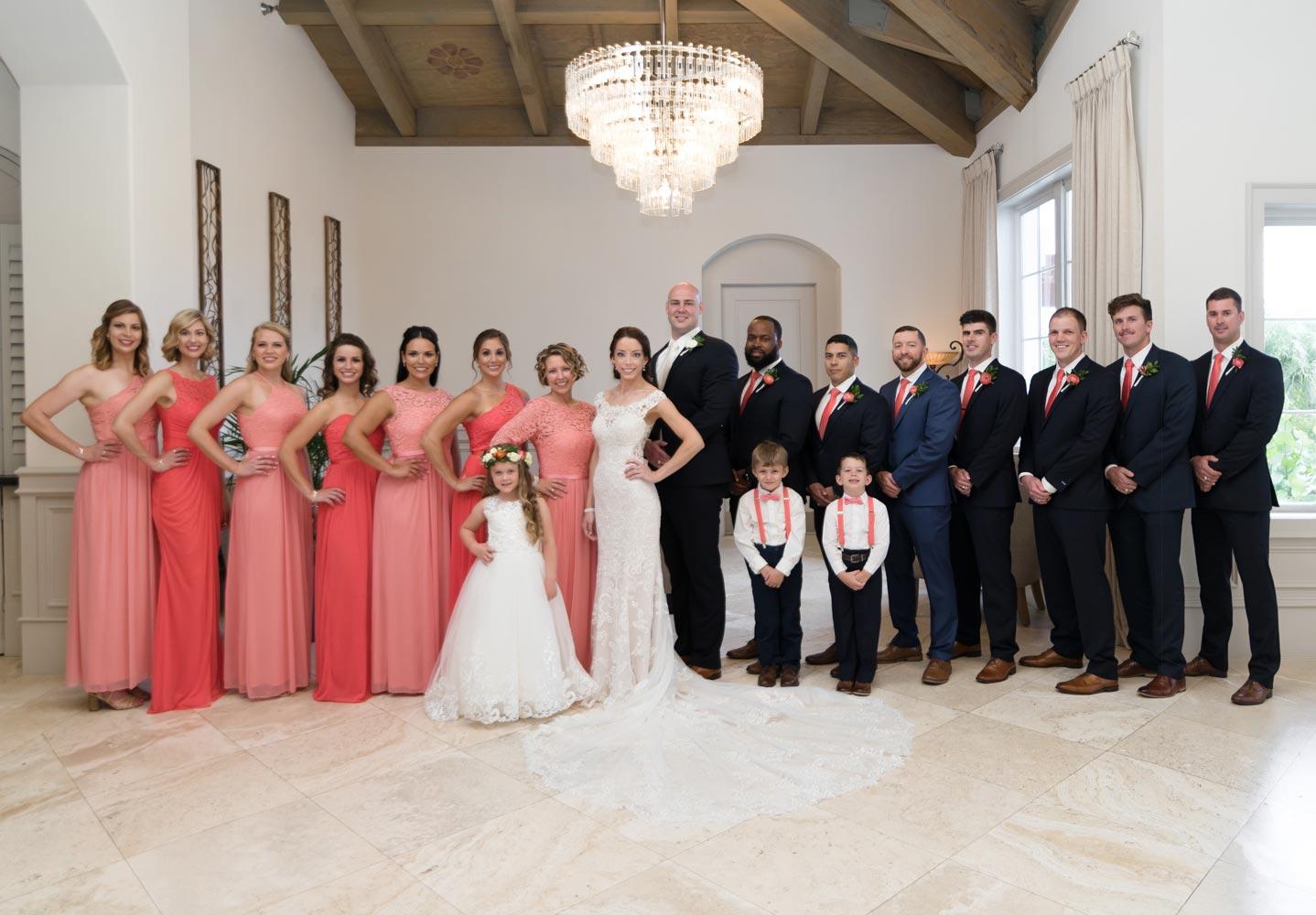 family formal wedding photos