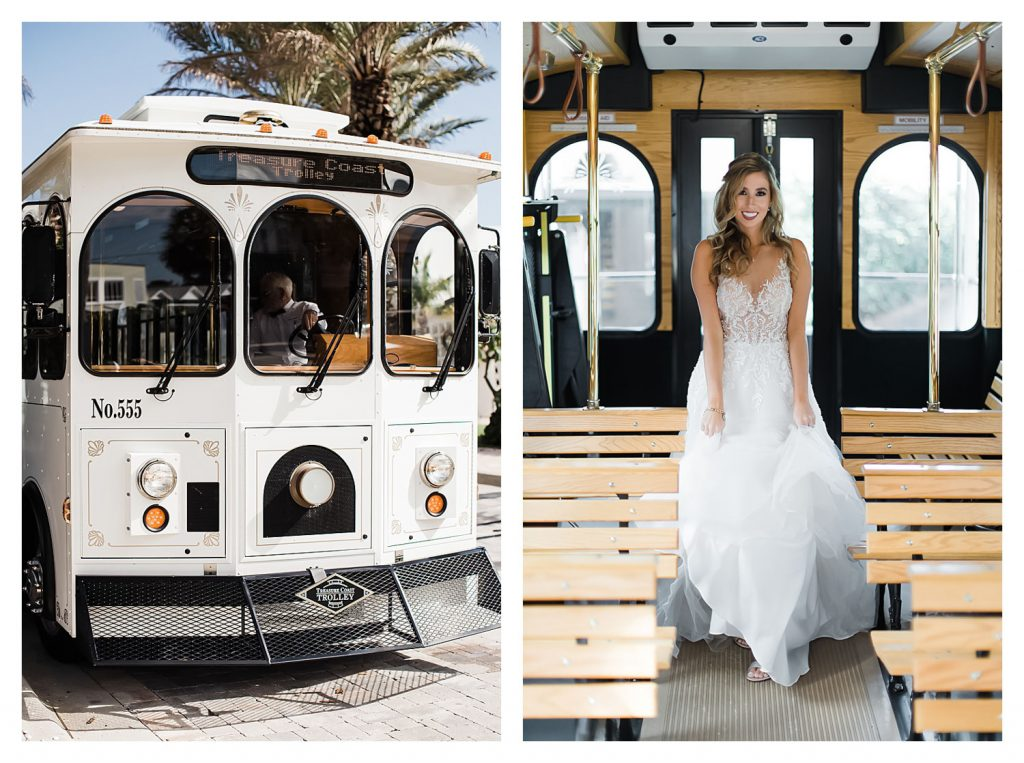 treasure coast trolley wedding