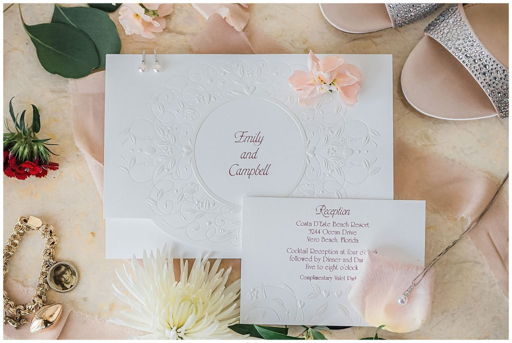 vero beach wedding invitations