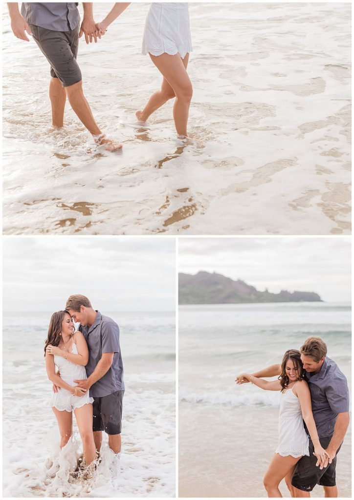 engagement photos at hanalei bay