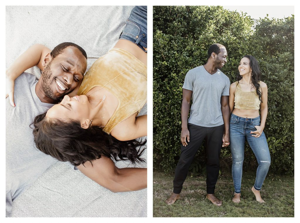 in-home engagement photos