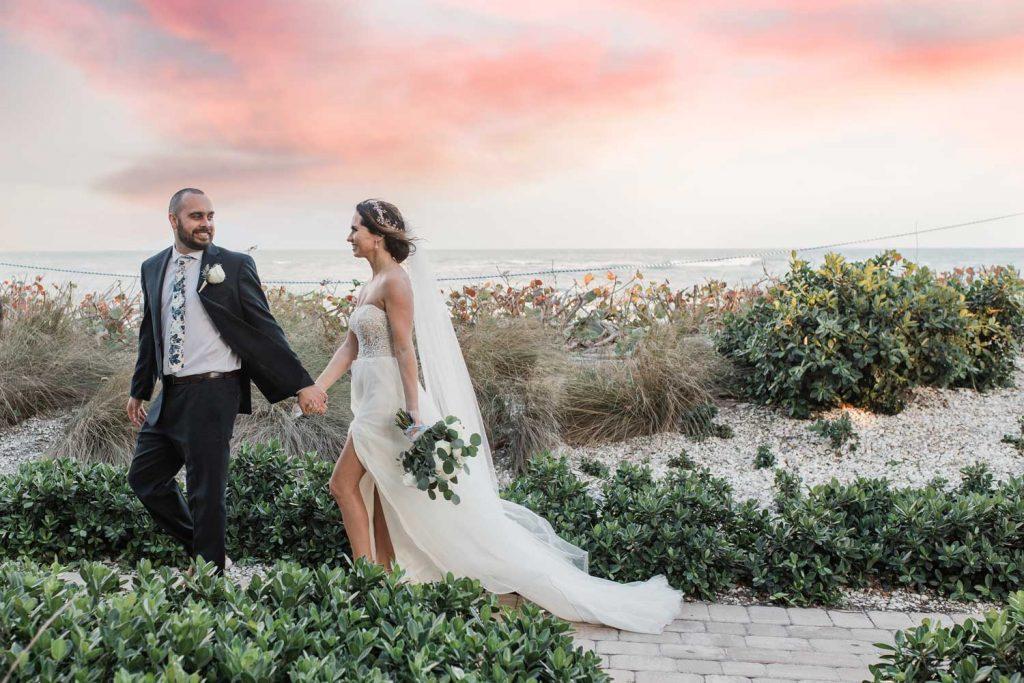 vero beach sunset wedding photographer