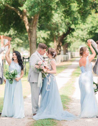 Blue Theme Rustic Wedding Barn At Azalea Oaks