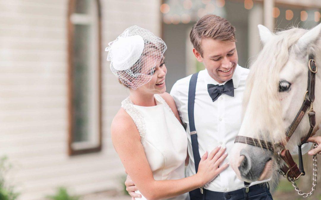 A Modern Equestrian Wedding