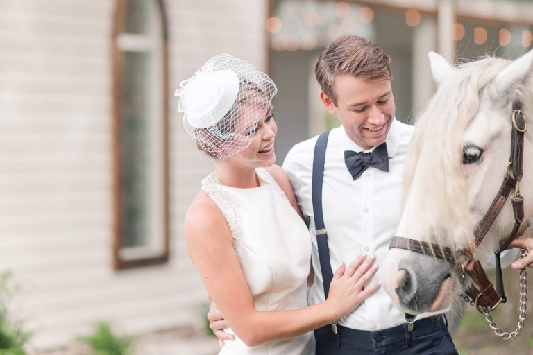 A Modern Equestrian Wedding