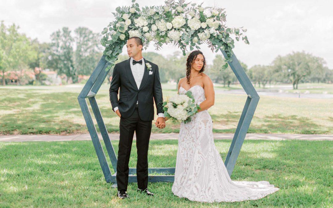 Green & White Garden Wedding