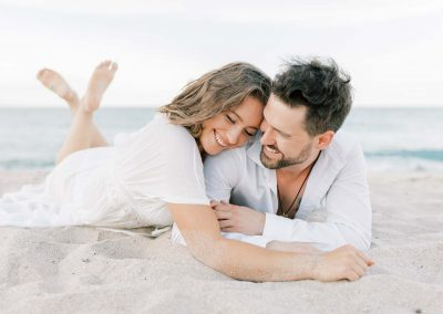 Intimate & Playful Beach Engagement Inspo