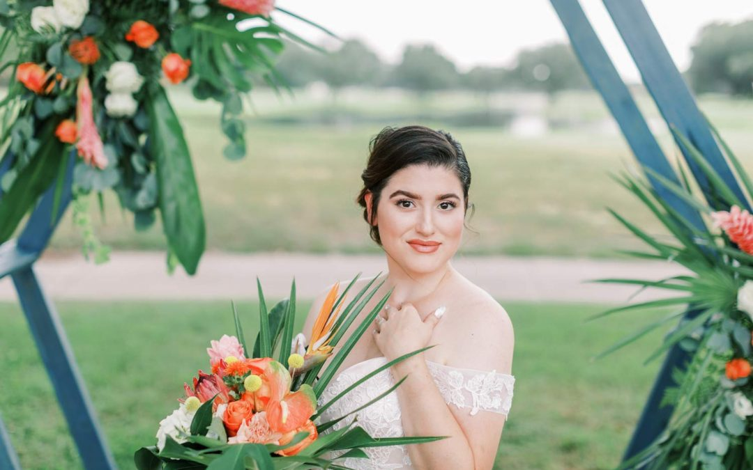 Tropical Citrus Orlando Wedding