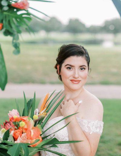 tropical orange tree club orlando wedding bride