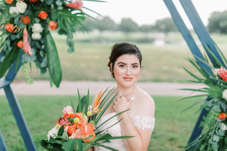 Tropical Citrus Orlando Wedding