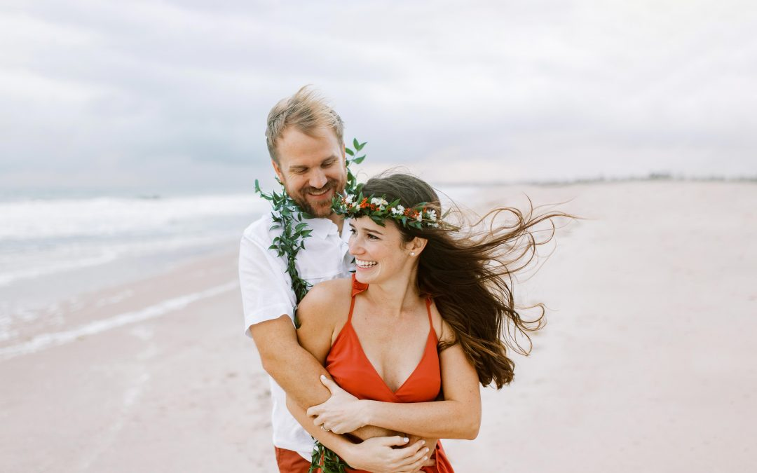 Rainy Day Hawaiian Inspired Beach Elopement