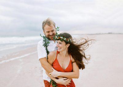 Rainy Day Hawaiian Inspired Beach Elopement