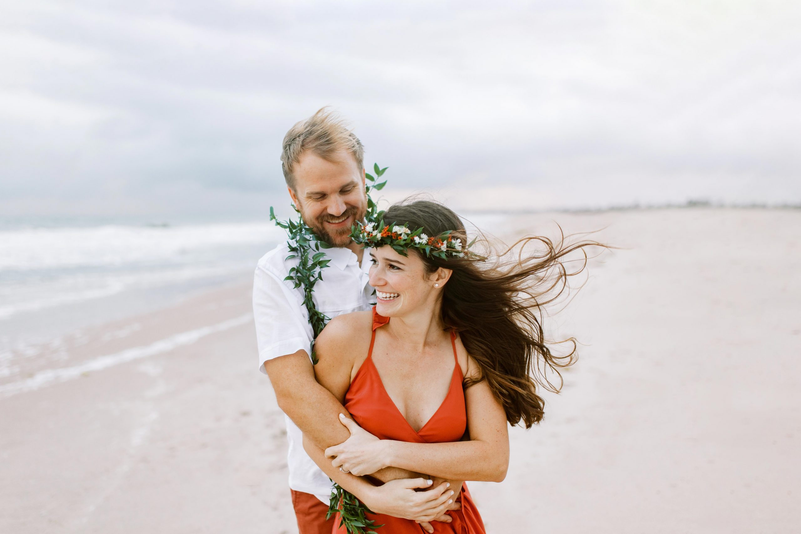 beach elopement in Vero South Florida