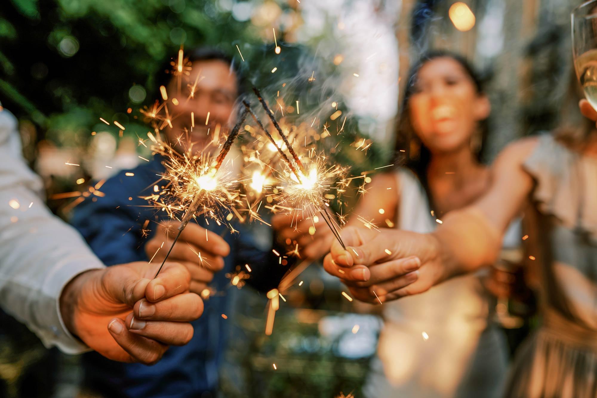 wedding sparkler alternatives