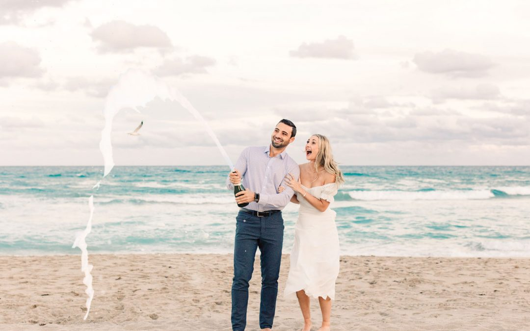 Chic Palm Beach Engagement